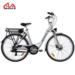 26 인치 저잡음 중간 몬 모터 도시 전기 자전거