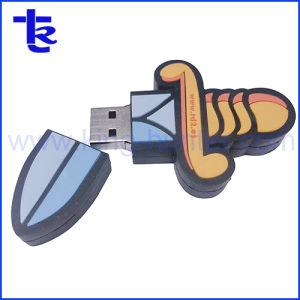 Индивидуального дизайна ПВХ материал логотип Customzied диск USB