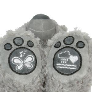 Мягкие плюшевые игрушки серый музыки светодиодный индикатор Мишка кукла игрушки