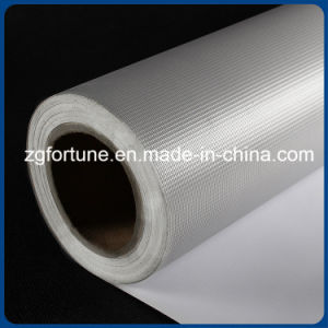 Good Market White Grey Glossy Printed Media PVC Back Blockout Flex Banner
