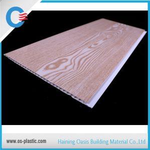 Motif de plafond en bois plat 25cm de l'intérieur PVC PVC décoratifs Panneau mural