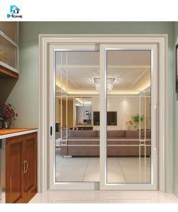Casa moderna de aluminio puerta corrediza de vidrio de seguridad