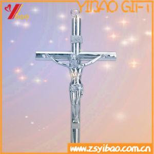 Traversa cattolica antica/retro/del chiesa decorazione domestica, croce diritta del metallo religioso portabile