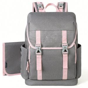 Bag Sac à dos avec coussinet de remplacement de grande capacité pour MOM/Daddy & RPET disponibles Sacs de couche de bébé