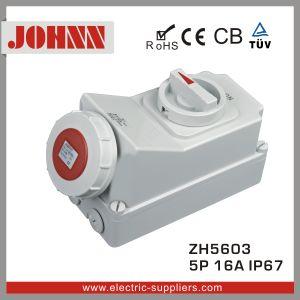 IP67 5p 16d'une douille avec des commutateurs et verrouillage mécanique