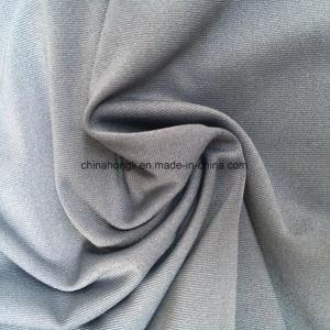 Tecido de Malha de Spandex Poliéster 75D de Jersey Único de Microfibra para Roupa Esportivo