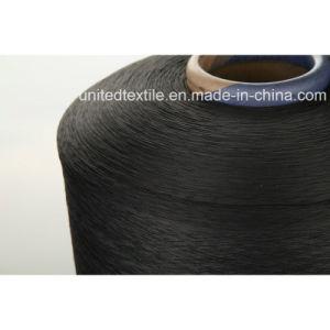 Polyester oder Nylon(150d+40d) Spandex-Schwarz-Luft deckten Garn ab