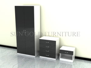 لون قرنفل لون عارية لمعان خزانة ثوب مجموعة/غرفة نوم خزانة ثوب يثبت ([سز-ود014])