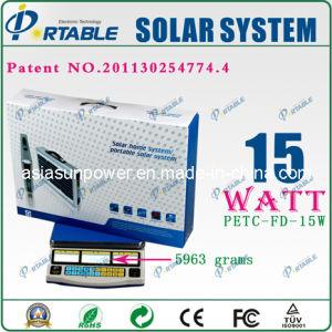 Sistema de energía solar portátil (PETC-FD-15W)