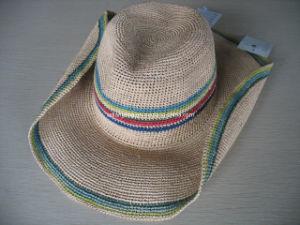 La rafia ganchillo sombrero de vaquero