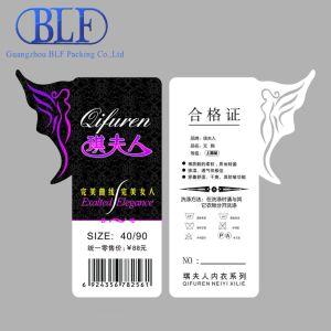 Специализированные печатные одежду теги индексов цен (BLF-T031)
