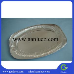 Vaisselle jetable en aluminium de la plaque d'aliments