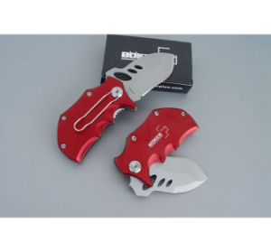 Diseño OEM Rojo Mini Navaja metálica