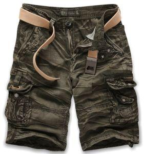 Gli uomini adattano gli Shorts Pocket lavati 60009 del carico del cotone