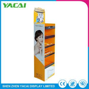 Zoll gefalteter Fußboden-Sicherheits-Papier-kosmetischer Ausstellungsstand für Speicher-Förderung
