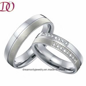 유일한 순수한 티타늄 사랑 결혼 반지 한 쌍은 쌍 Handmade 남자와 여자 보석을 둥글게 된다