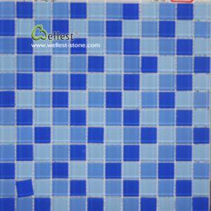 Tegel van het Mozaïek van het Glas van het Zwembad de Blauwe