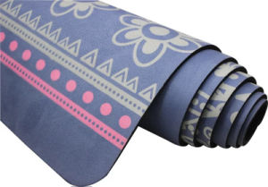Eco friendly diseño personalizado del Caucho Natural Suede estera del yoga