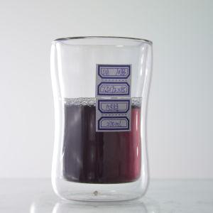 tazza doppia di vetro del caffè dell'alto silicone del boro 9oz/12oz/15oz