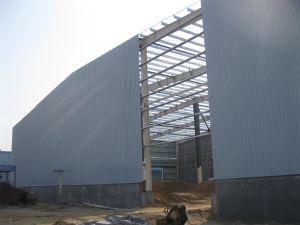 La luz de prefabricados de estructura de acero el acaparamiento de heno de Almacén (KXD-114)