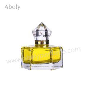 Königliche Glasduftstoff-Flasche mit Kristallpumpen-Sprüher