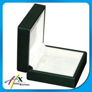 مظلمة - خضراء [بو] كسا جلد رفاهية مجوهرات محدّد يعبّئ صندوق [ستورج بوإكس] خشبيّة