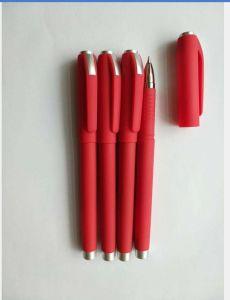 Bolígrafo rojo con logotipo personalizado