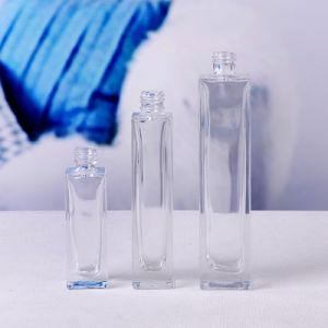 30ml forma de rectángulo claro vidrio vacía la botella de perfume