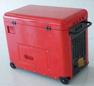 Luftgekühlter leiser Typ beweglicher Generator des Bison-5kw des Diesel-5kv