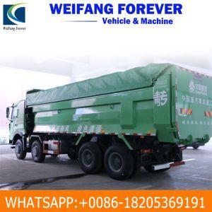De wijd Gebruikte 8X4 12 Tippende Vrachtwagen van de Vrachtwagen van de Stortplaats van de Kipper van Wielen HOWO Op zwaar werk berekende