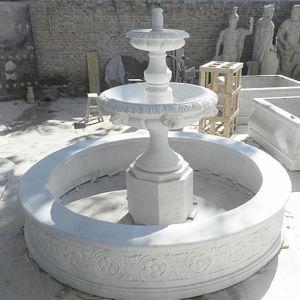 Openlucht Decoratieve Grote Witte Marmeren Fontein