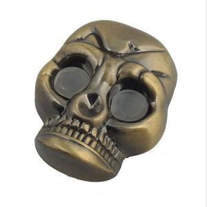 Macchina di fumo della smerigliatrice di tabagismo dell'erba in lega di zinco del metallo del cranio