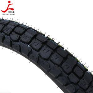 China-Qualität weg vom Straßen-Muster-Motorrad-Gummireifen {3.00-18}