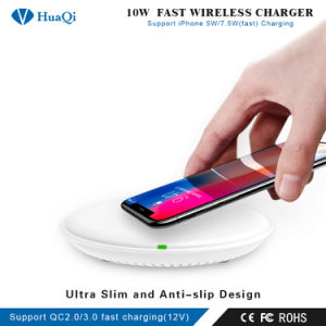 iPhoneのための最も安い5With7.5With10WチーQuick Wireless Cell Phone Charging HolderかPad/Station/ChargerかSamsungまたはHuawei/Xiaomi