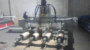 De multi-hoofd CNC van de Houtbewerking Machine van de Router met Roterend