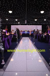 Fête de mariage à la mode disco LED de lumière blanche étoilée au panneau de plancher de danse pour la vente