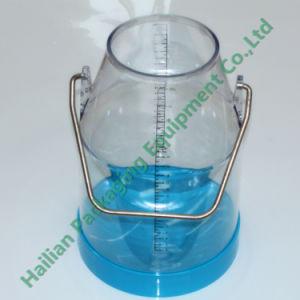 Máquina de ordenha balde de leite claro transparente 25litro