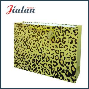 La stampa del leopardo personalizza il sacco di carta di alta qualità poco costosa dei commerci all'ingrosso di marchio