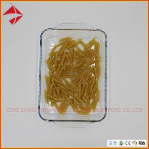 Hornear asar plato rectangular de cristal de la bandeja de horno; Vidrio utensilios de cocina/bandeja para hornear.
