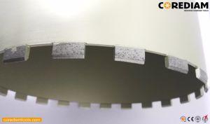 102mm soudé laser wet diamond Foret de base