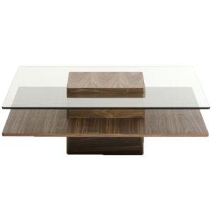 Верхней стеклянной кофейный столик Журнальный столик из дерева