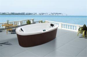 2 PeopleのためのロマンチックなSpecial Design Freestanding Ellipse Whirlpool SPA