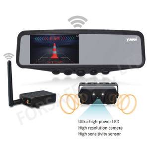 4.3 беспроводной зеркало заднего вида автомобиля с помощью камеры парковочный датчик