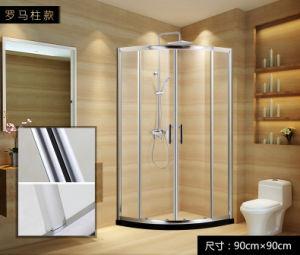 Het Scherm 6mm van de douche de Aangemaakte Bijlagen van de Douche van het Frame van de Legering van het Aluminium van het Glas