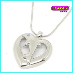 Monili Pendant della collana dello spuntino di modo del cuore d'argento della catena