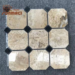 De decoratieve Tegels van het Mozaïek van de Steen van de Muur Gele