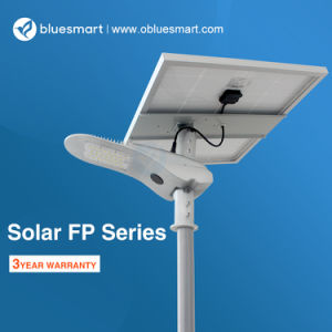 Ce RoHS todo-en-Uno/Integrar productos solares LED luminaria de la calle jardín exterior con sensor
