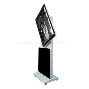 Basamento dell'interno del pavimento degli schermi di tocco di Yashi il doppio gira la pubblicità della visualizzazione
