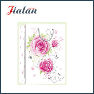 반짝임 어머니날 쇼핑 선물 종이 봉지를 가진 꽃을 주문을 받아서 만드십시오