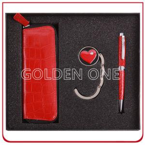 Gift Leather Key Chain와 Purse Hanger Gift Set 숙녀의